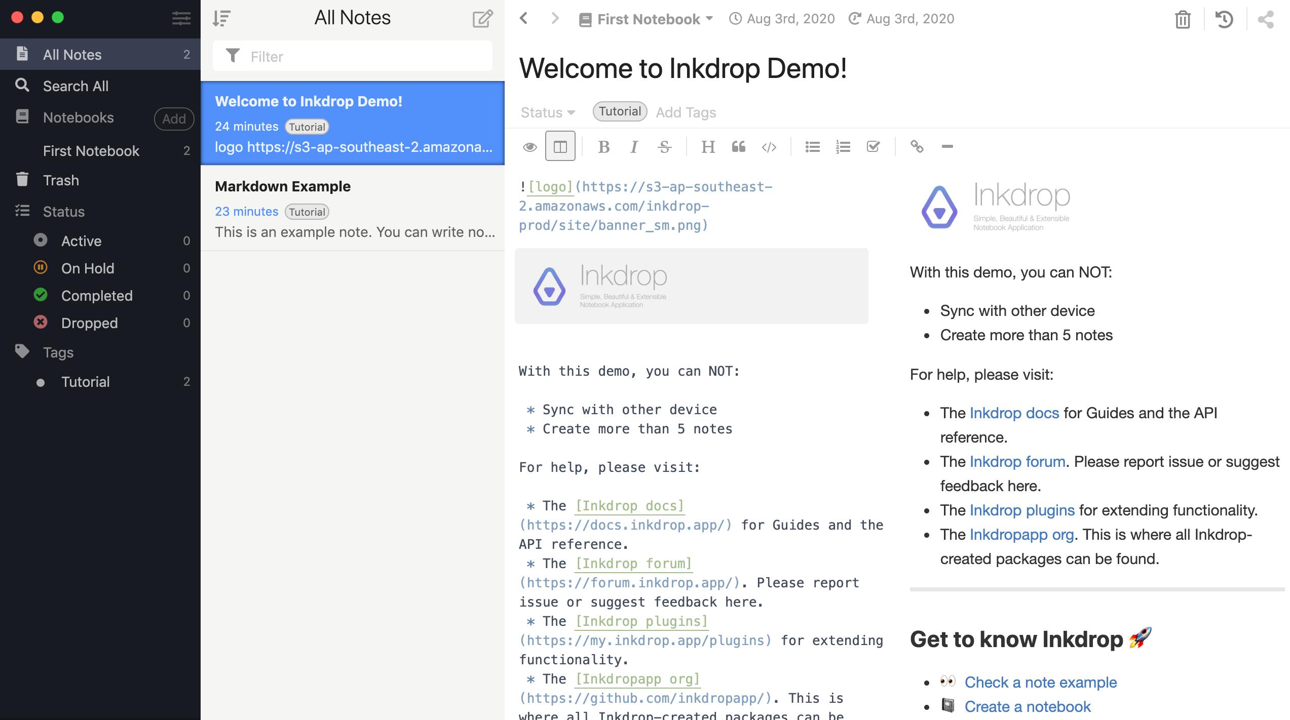 Inkdrop Markdown application